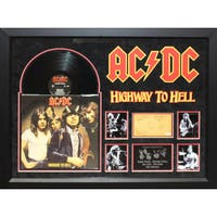 Hand-signed AC/DC 'Highway to Hell' Custom Wood-framed Album