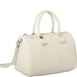 Deleite by Sharo Ivory Leather Satchel Handbag