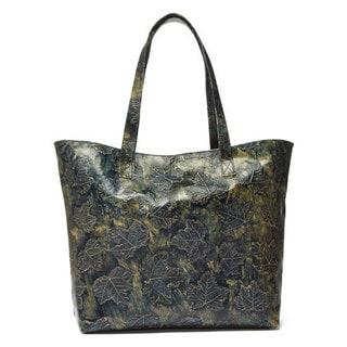 Viva Bags Metallic-embossed Leaf Tote Bag