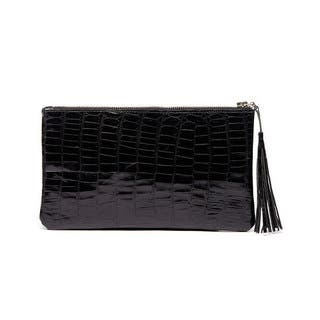 Viva Bags Croco Embossed Leather Clutch|https://ak1.ostkcdn.com/images/products/15209956/P21686718.jpg?impolicy=medium