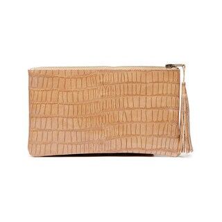 Viva Bags Croco Embossed Leather Clutch