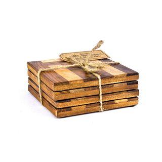 Wood Coasters- Set of 4 pcs