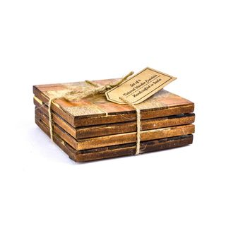 Wood Coasters- Set of 4 pcs