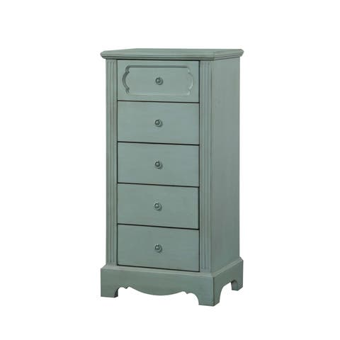 Acme Furniture Morre Antique Teal Pine Mdf Chest