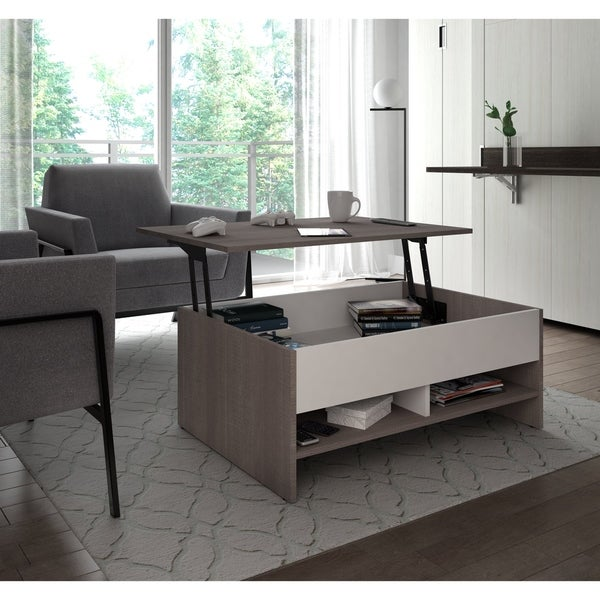 Where To Buy Lift Top Coffee Tables With Storage: Shop Bestar Small Space 37-inch Lift-Top Storage Coffee
