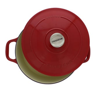 Chasseur Red French Enameled Cast Iron 4.2-quart Round Dutch Oven