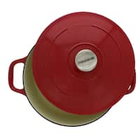 Chasseur 4.2-quart Red French Enameled Cast Iron Round Dutch Oven