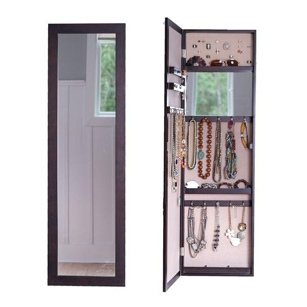hanging full length mirror door mirror hives amp honey doorhanging fulllength mirrored jewelry cabinet shop
