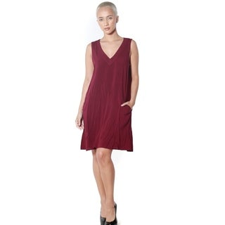 Women's V-neck A-line Dress