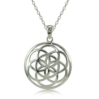 Mondevio Sterling Silver High Polished Celtic Knot Round Necklace (Option: Gold Plate - Pink)