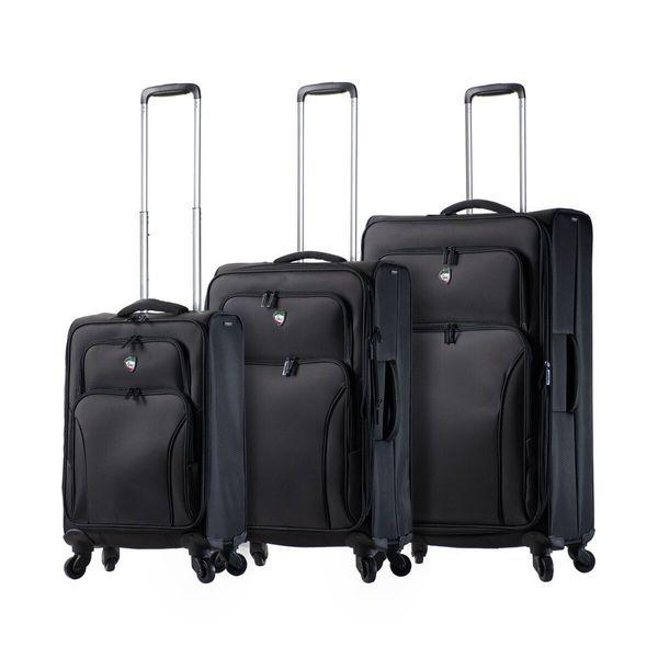 Burgundy Mia Toro Italy Elio Softside 24 Inch Spinner Luggage