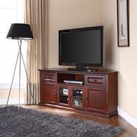 Crosley Furniture Vintage Mahogany 60-inch Corner TV Stand