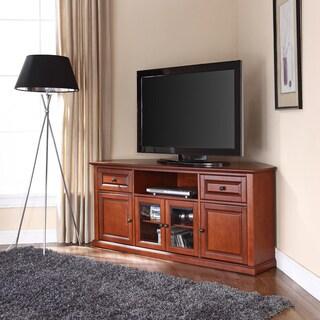 Crosley Furniture Brown Wood 60-inch Corner TV Stand