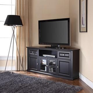 Black 60-inch Corner TV Stand
