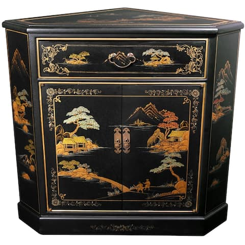 Handmade Japanese Corner Cabinet