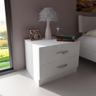 Balmoral Modern Minimalist White Wood Nightstand