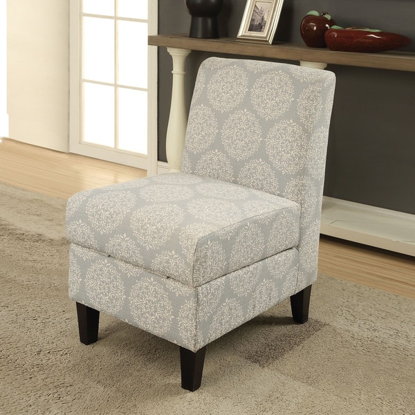 Acme Furniture Ollano Ii Pattern Fabric And Wood Accent