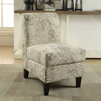 Acme Furniture Ollano II Multicolored Pattern Fabric Accent Chair with Storage