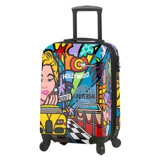 Mia Toro ITALY Jozza Life Style 22-Inch Hardside Spinner Carry-On Upright Suitcase