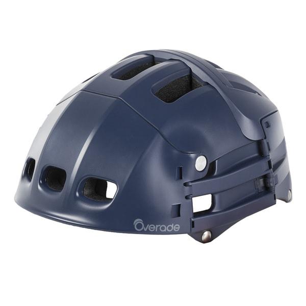 Overade Plixi Foldable Bicycle Helmet, Navy Blue, 54-58 cm
