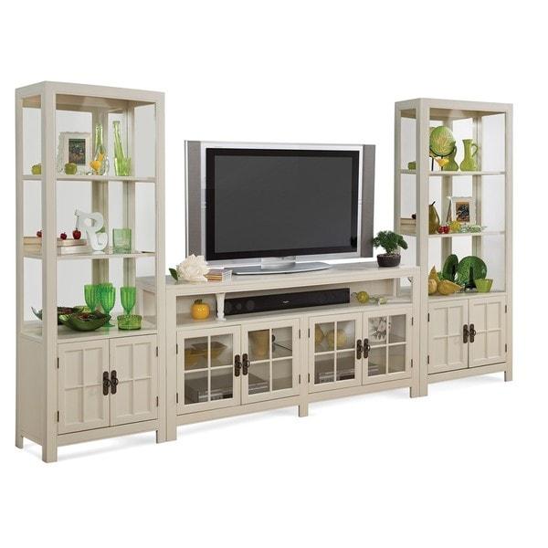 B Q Kitchen Cabinets Sale: Shop Philip Reinisch Saybrook White 3-piece TV Console