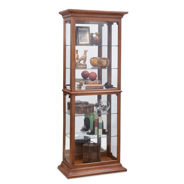 Philip reinisch fairfield i oak wood and glass curio