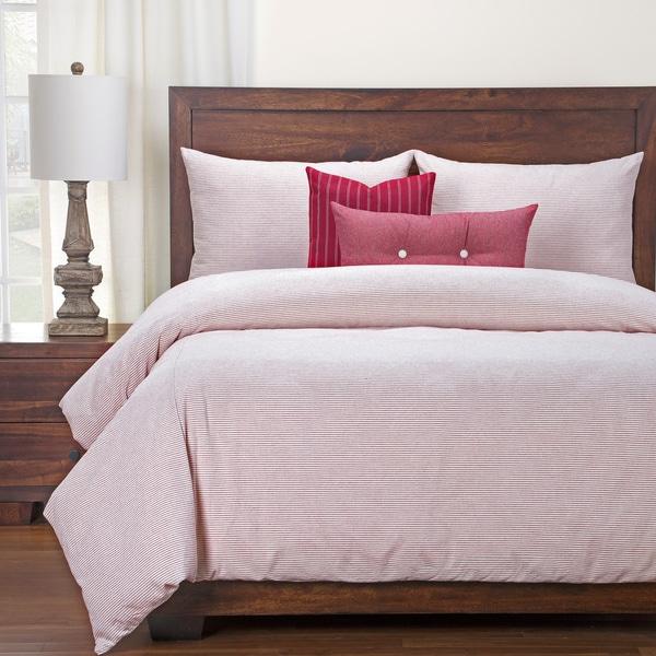 Siscovers Luxury Cotton-Blend Heritage Brick Down Alt Duvet Cover Set