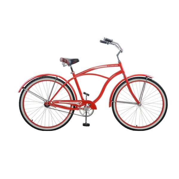 """Cycle Force Men's Vintage Cruiser, 26"""", Red"""