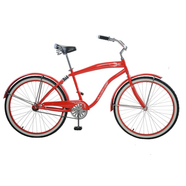 "Cycle Force Men's Suspension Cruiser, 26"", Red"