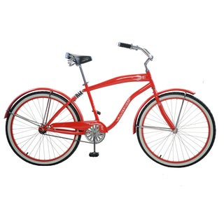 """Cycle Force Men's Suspension Cruiser, 26"""", Red"""
