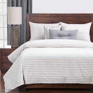 Havenside Home Carrabelle Luxury Cotton-blend Burlap Ivory Down Alt Duvet Cover Set