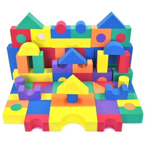 Wonder Blocks Children's Non-Toxic Foam 70-piece Building Block Set
