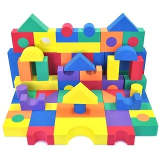 Wonder Blocks Children's Non-Toxic Foam 70-piece Building Block Set
