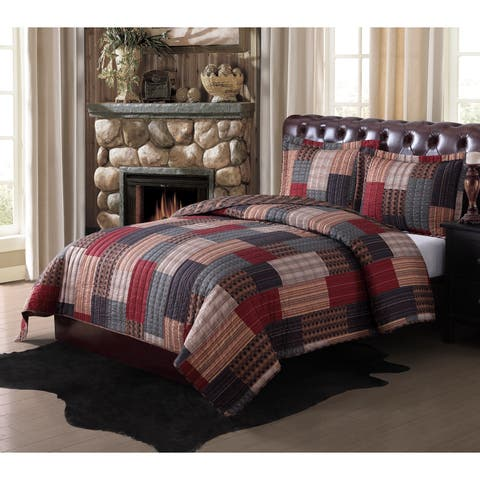 Remington Gunnison Printed 3 Piece Lodge Quilt Set