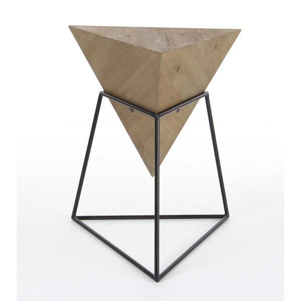 Benzara Metal Wood Coffee Table