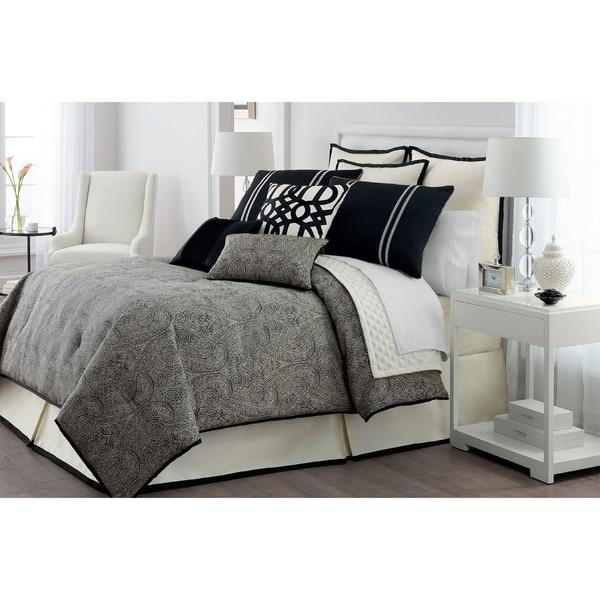 Veratex Danika Jacquard 4 Piece Comforter Set
