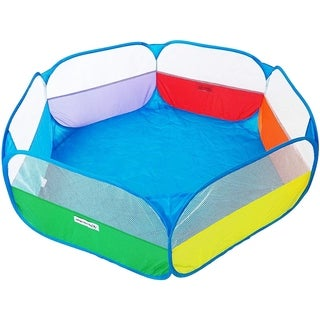 eWonderWorld Rainbow Hexagon Children Twist Playpen with Safety Meshing