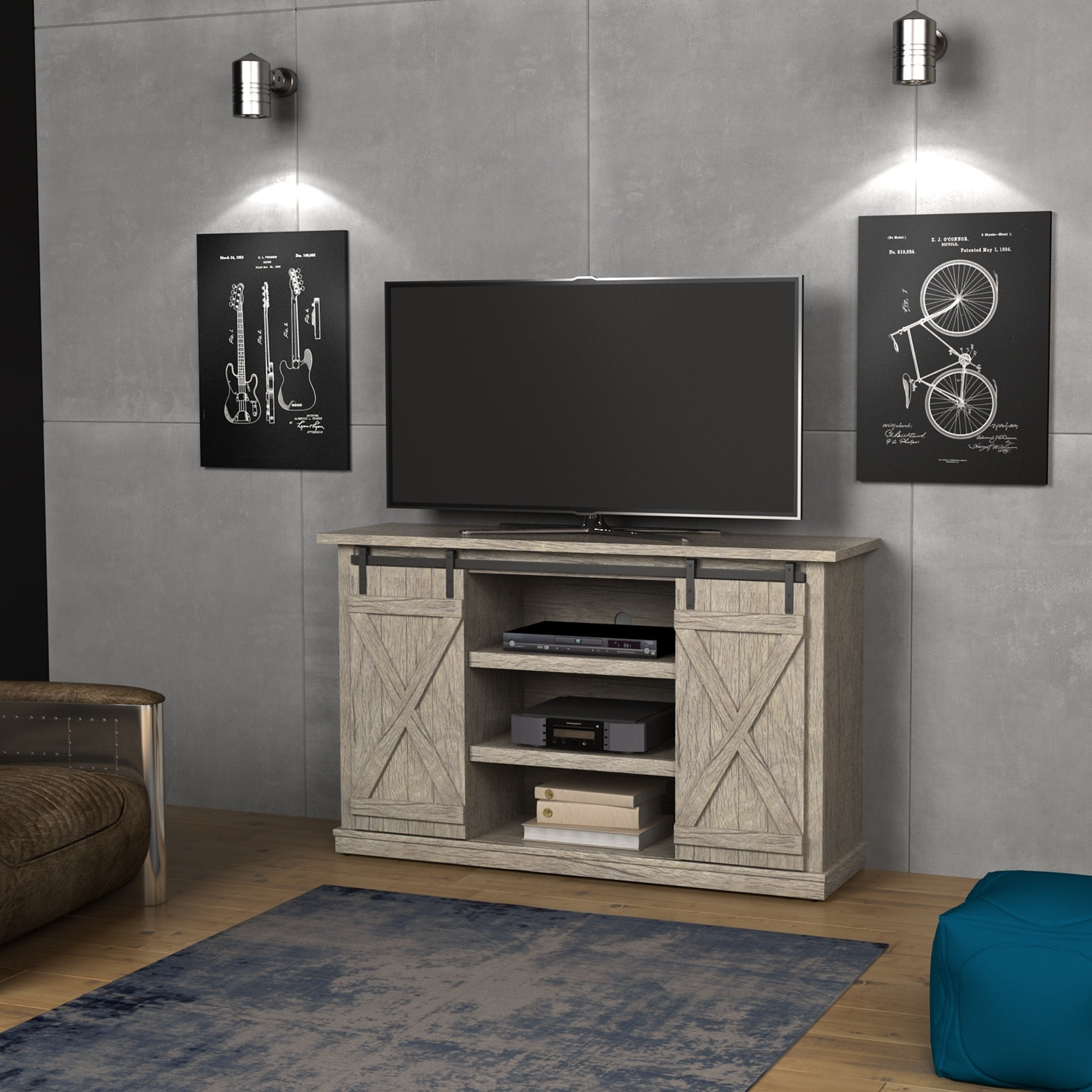 Cottonwood Tv Stand For Tvs Up To 60 Inches Ashland Pine On Sale Overstock 15210307