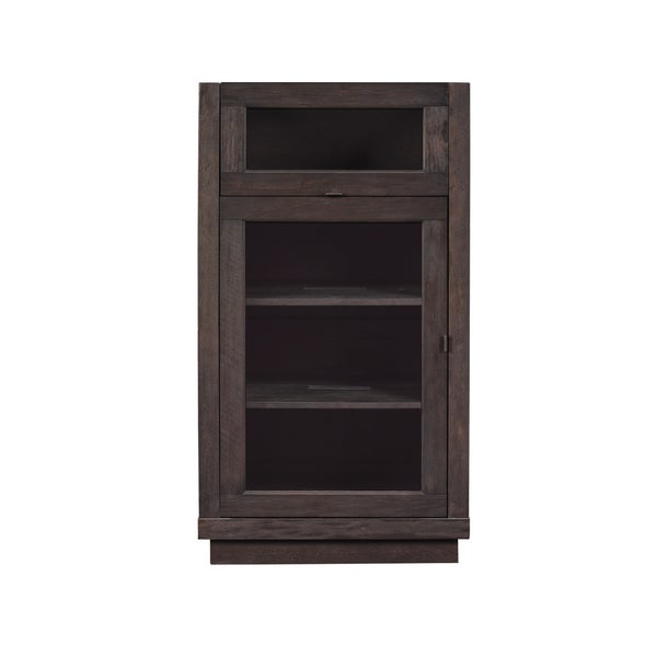shop coltrane audio video component cabinet with lift top for record player espresso pine. Black Bedroom Furniture Sets. Home Design Ideas