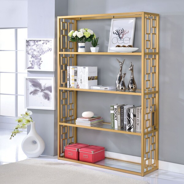 Clear Furniture Intended Acme Furniture Blanrio Cleargold Glassmetal Bookshelf Shop Free