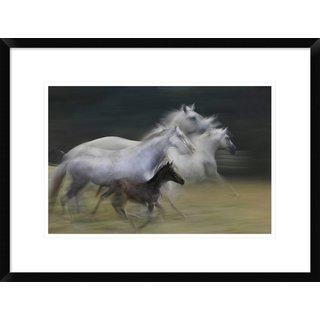Global Gallery, Milan Malovrh 'In Gallop' Framed Giclee Print