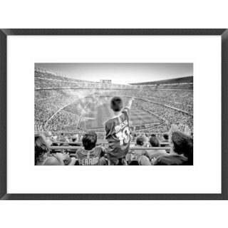 Global Gallery, Clemens Geiger 'Cathedral Of Football' Framed Giclee Print