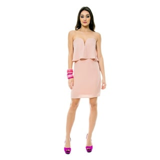 Sara Boo Strapless Flare Dress