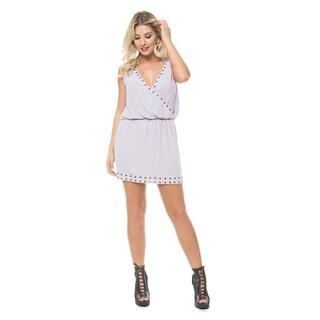 Sara Boo Grommet Embellished Dress