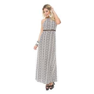 Sara Boo Black and White Maxi Dress