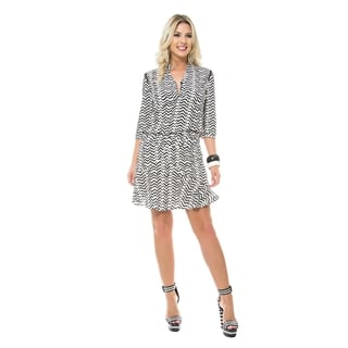 Sara Boo Zig Zag Black/White Dress