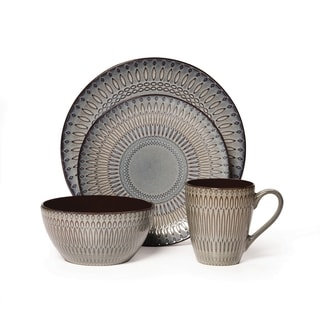 Mikasa Gourmet Basics Broadway Multicolor Stoneware 16-piece Dinnerware Set (Service for 4)  sc 1 st  Overstock.com & Grey Casual Dinnerware For Less | Overstock