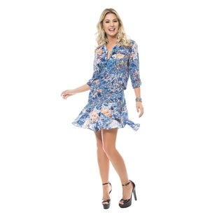 Sara Boo Women's Vintage Blue Viscose Dress (4 options available)