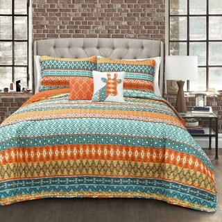 Lush Decor Valerie Stripe 5-piece Quilt Set