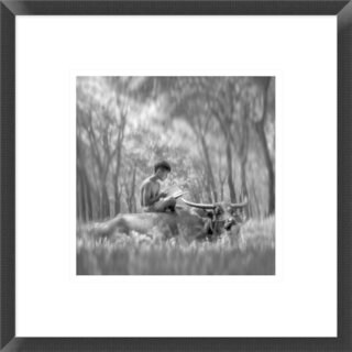Global Gallery, Antonyus Bunjamin (Abe) 'Learn Spirit' Framed Giclee Print